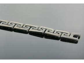 S1336 Náramek z chirurgické oceli BLACK 20,5/1,2cm