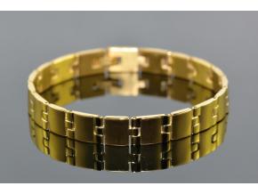 S1338 Náramek z chirurgické oceli GOLD 21/1cm