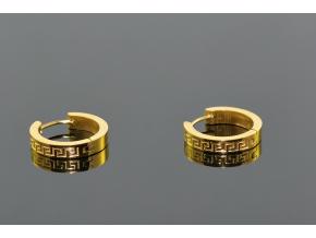 S1381 Malé kroužky z chirurgické oceli GOLD 2cm