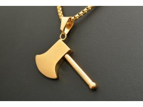 S1538 Přívěsek SEKERA GOLD z chirurgické oceli