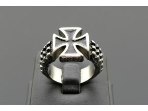 S1621 Masivní prsten MALTÉZSKÝ KŘÍŽ z chirurgické oceli