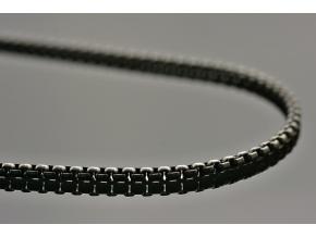 S1676 Řetízek BRUNO BLACK z chirurgické oceli 55/0,3 cm