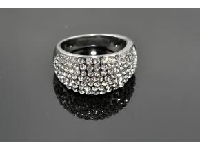 S0508 Prsten z chirurgické oceli s krystalky