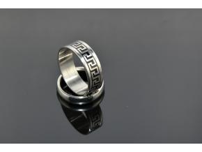 S0475 Prsten z chirurgické oceli - řecký vzor