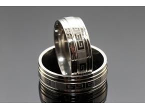 S2498 Prsten z chirurgické oceli SILVER