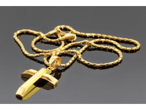 S2510 Křížek GOLD z chirurgické oceli