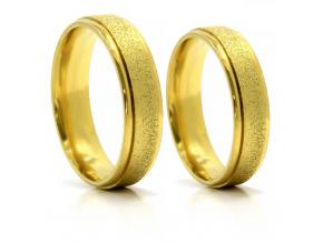 S2761 Prsten z pískované chirurgické oceli GOLD