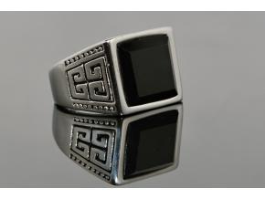 S0818 Masivní prsten BLACK z chirurgické oceli