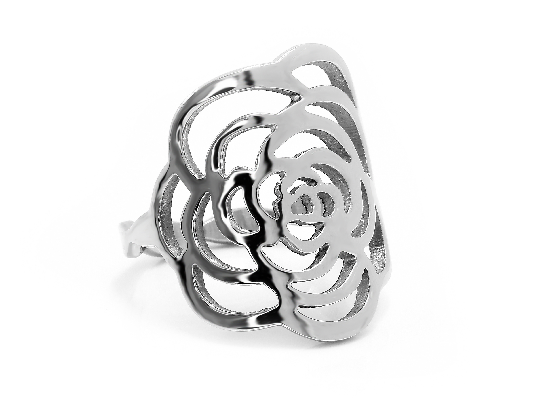 S0834 Prsten růže z chirurgické oceli Pohlaví: dámské, Velikost: 6