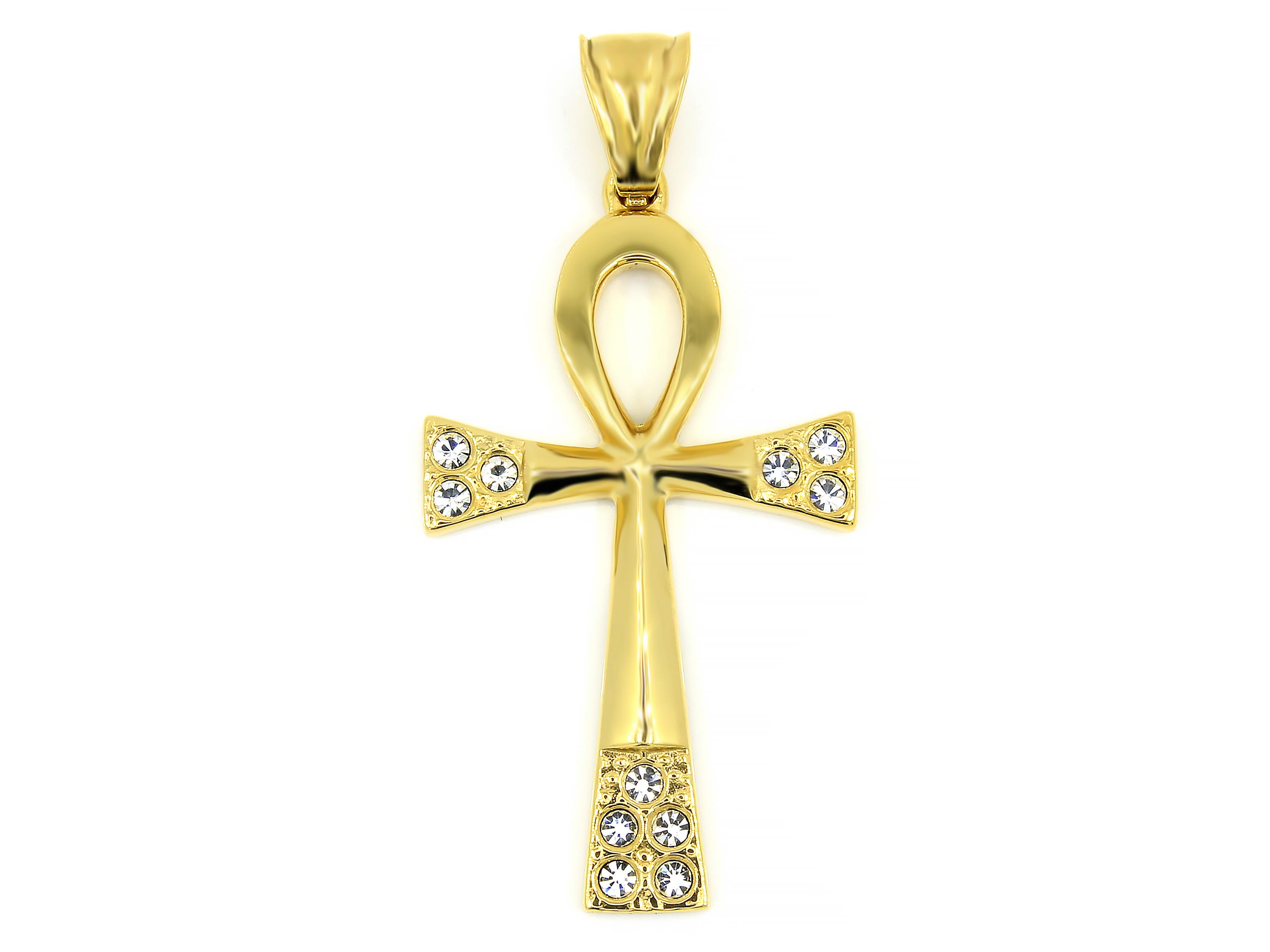 S1707 Nilský kříž ANCH - chirurgická ocel GOLD