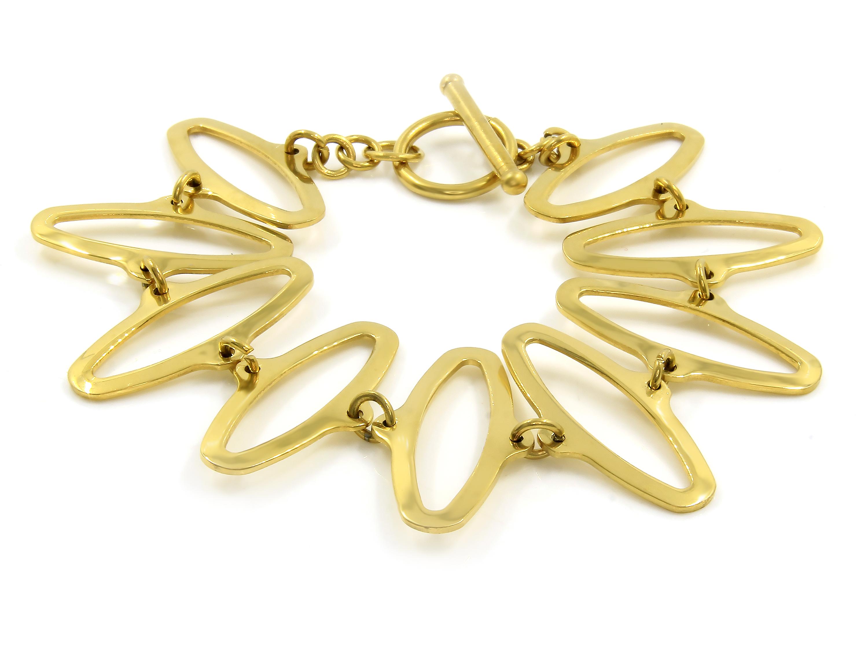 S1734 Dámský náramek z chirurgické oceli GOLD