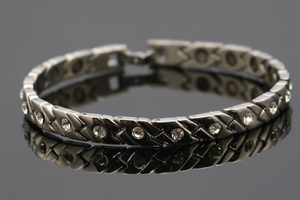 S1977 DÁMSKÝ NÁRAMEK z chirurgické oceli s krystalky