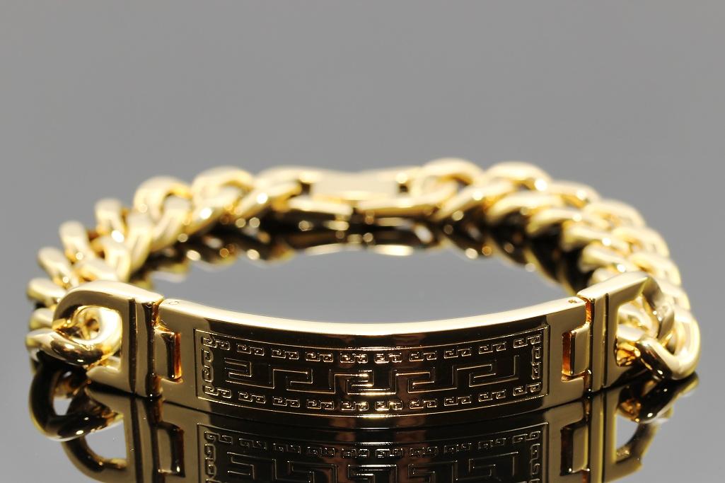 S2102 NÁRAMEK s destičkou z chirurgické oceli GOLD