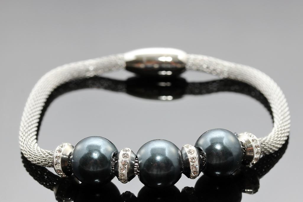 S2146 Souprava BLUE náhrdelník + náramek z chirurgické oceli