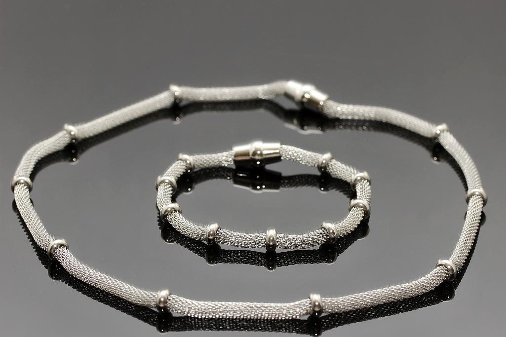 S2147 Souprava náhrdelník + náramek z chirurgické oceli