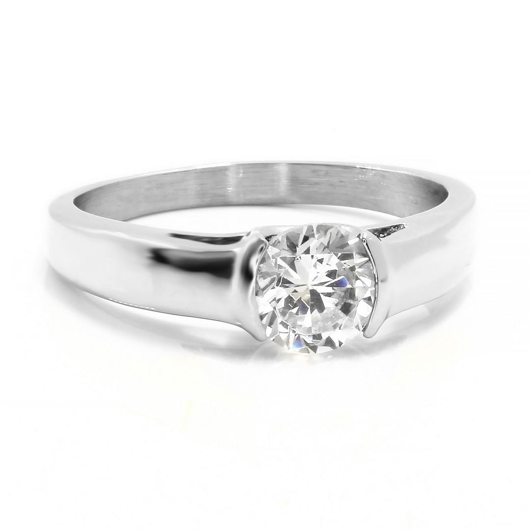 S2656 Krásný prsten s kamínkem Pohlaví: dámské, Velikost: 6