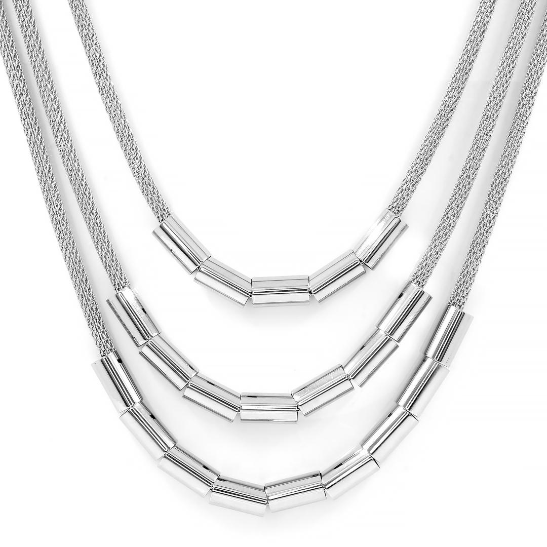 S2662 Exkluzivní trojitý náhrdelník z chirurgické oceli