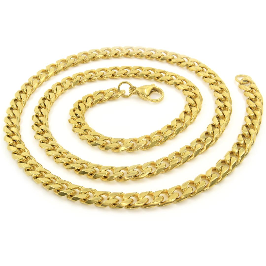 S2674 Řetěz z chirurgické oceli GOLD 60/0,7 cm