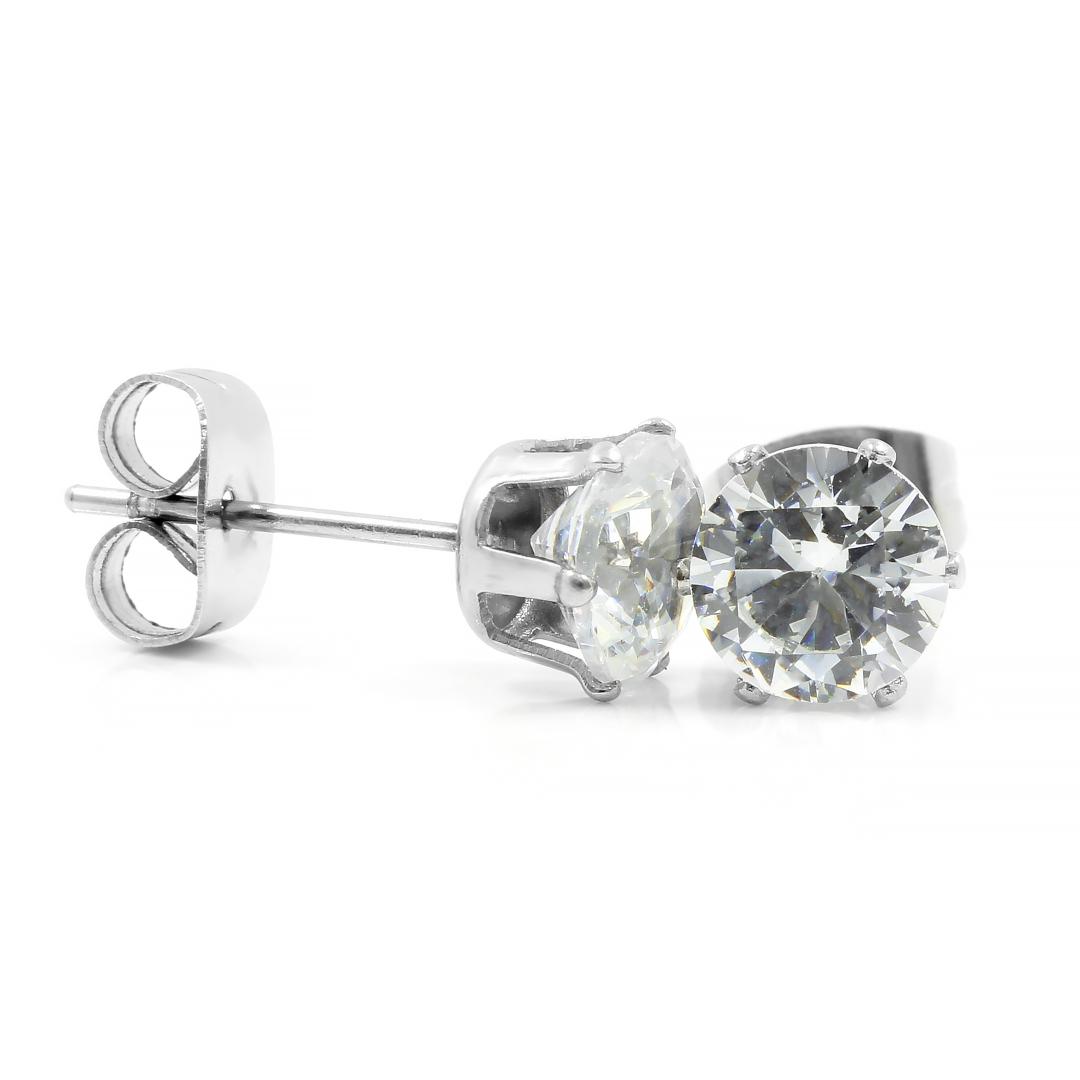 Levně S2682 Krystalkové náušnice 0,6 cm