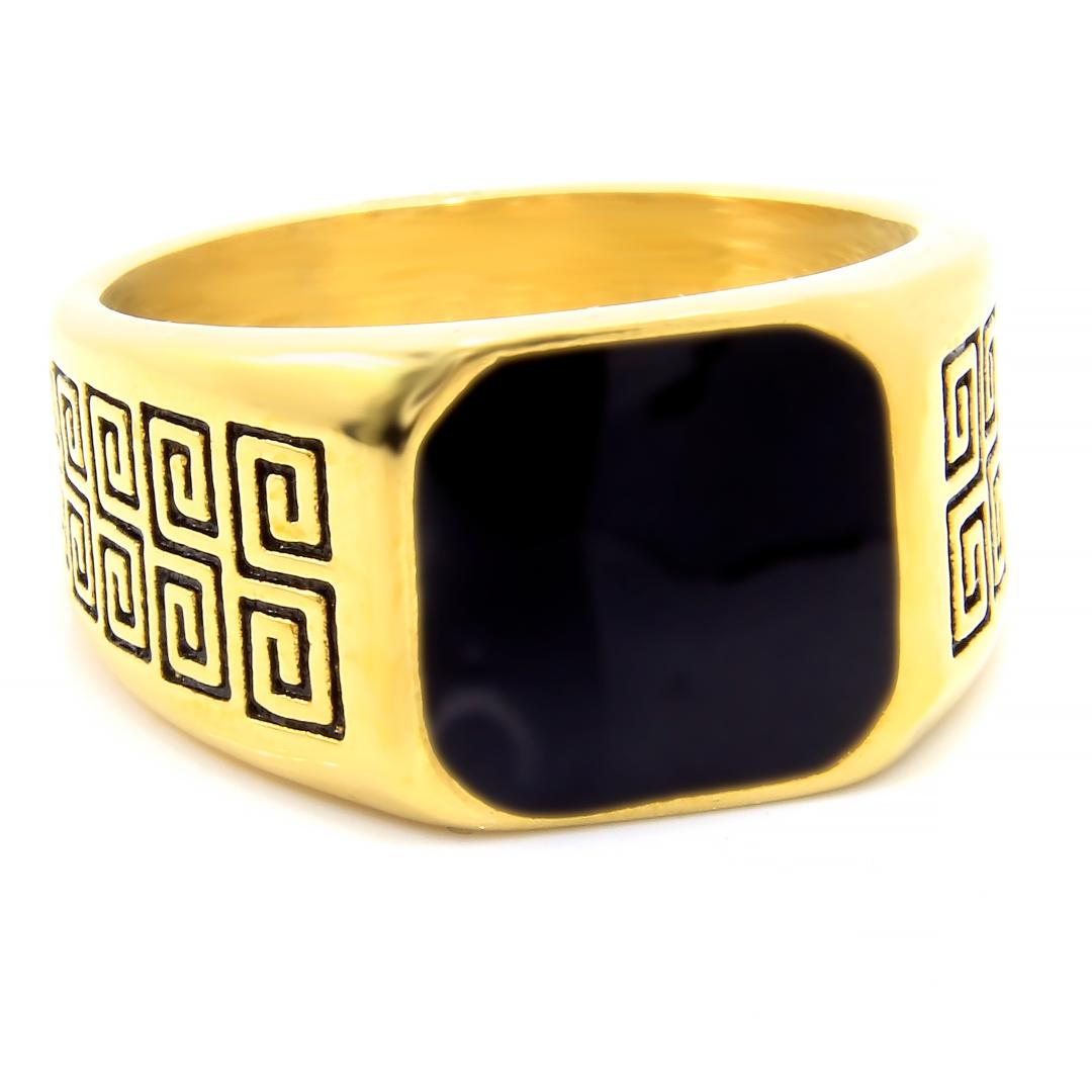 Levně S2698 Masivní pánský prsten GOLD Velikost: 14
