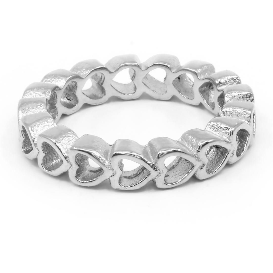 Levně S3212 SRDÍČKOVÝ prsten Velikost: 7