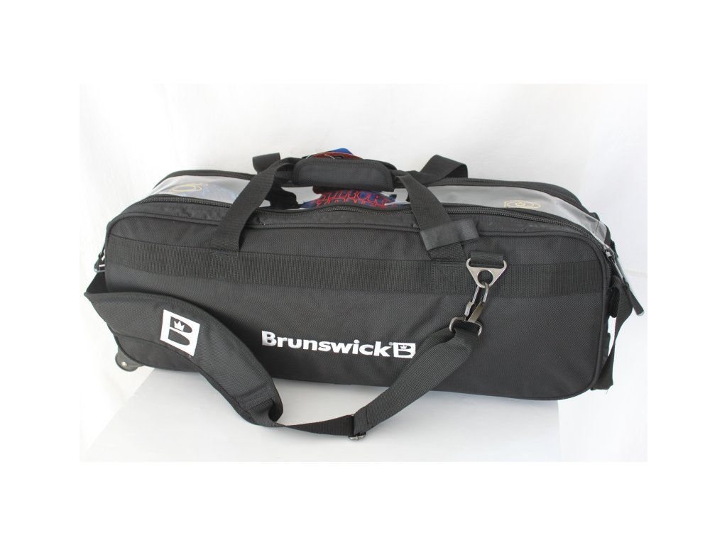 347 bowlingova taska pro 3 koule brunswick slim triple roller bag black