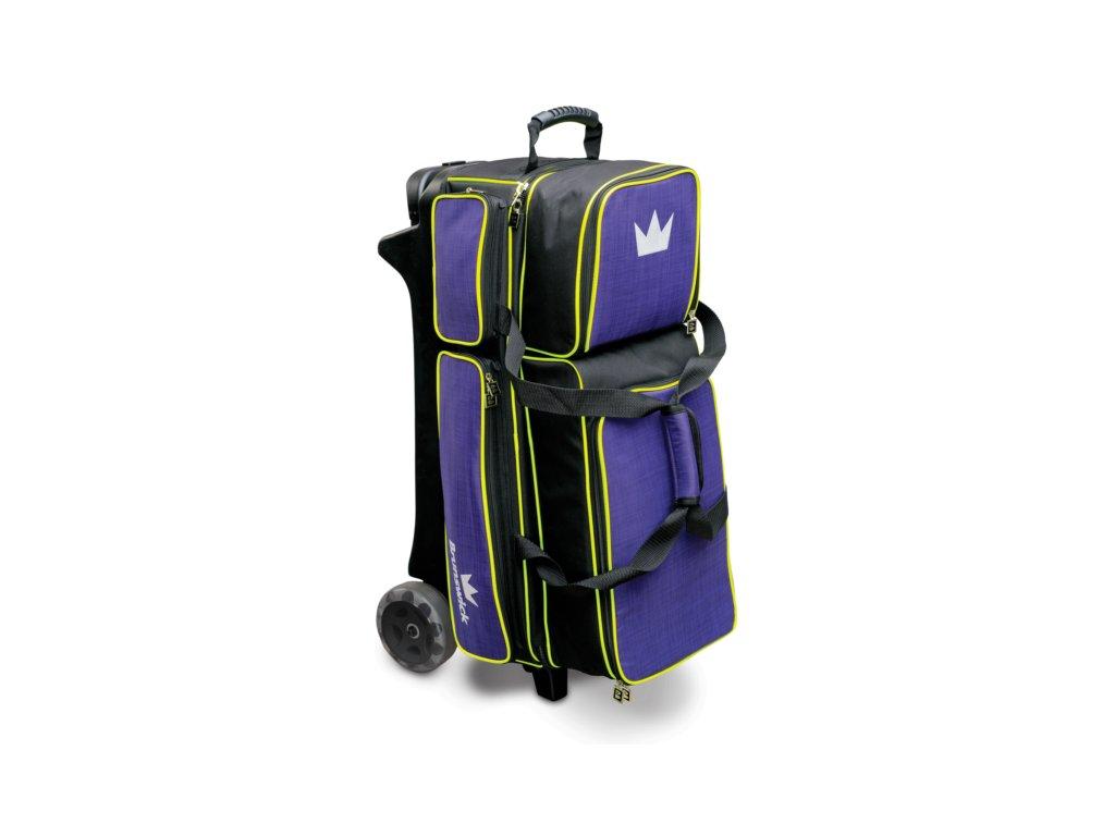 Bowlingová taška na 3 koule Crown Deluxe Triple Roller fialová