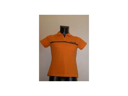 188 bowlingove triko ladys polo orange