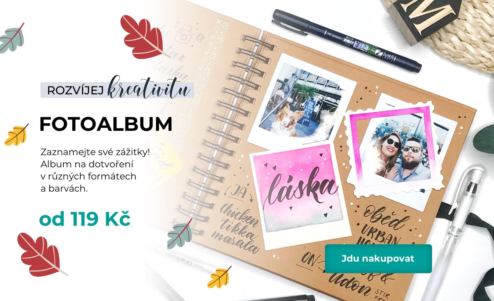 Zaznamejte své zážitky!  Album na dotvoření  v různých formátech a barvách.