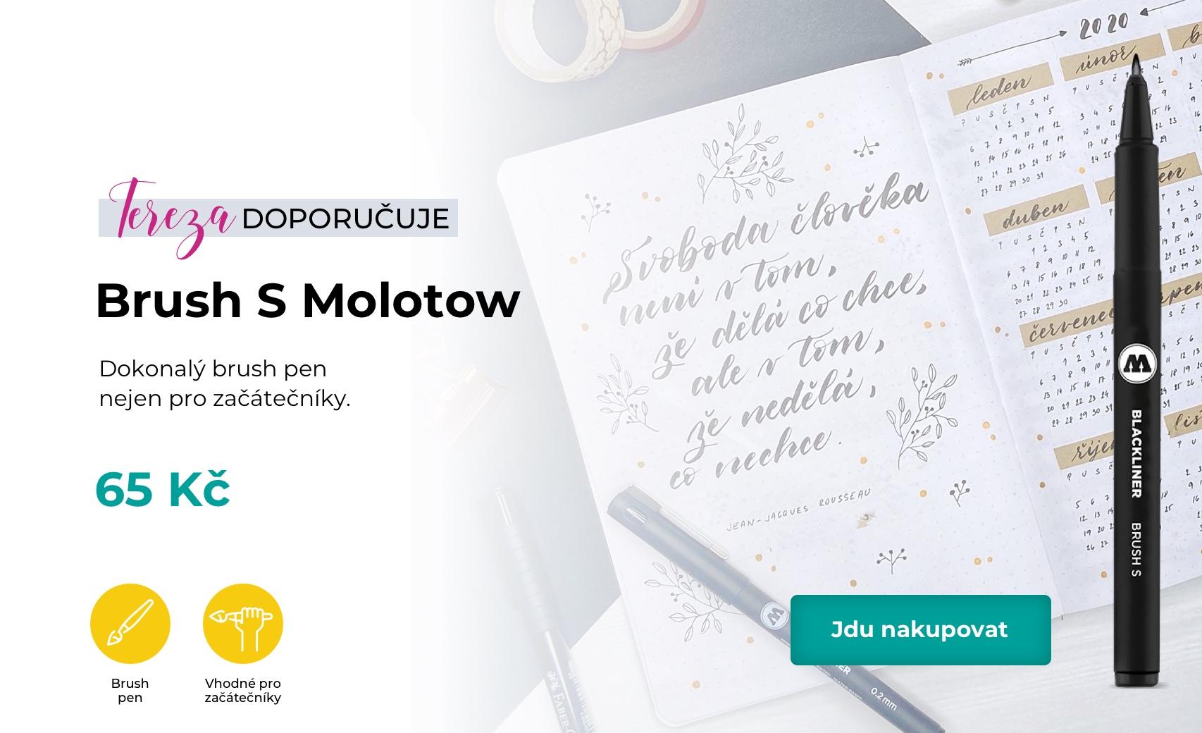 Brush S Molotow je dokonalý brush pen  nejen pro začátečníky.
