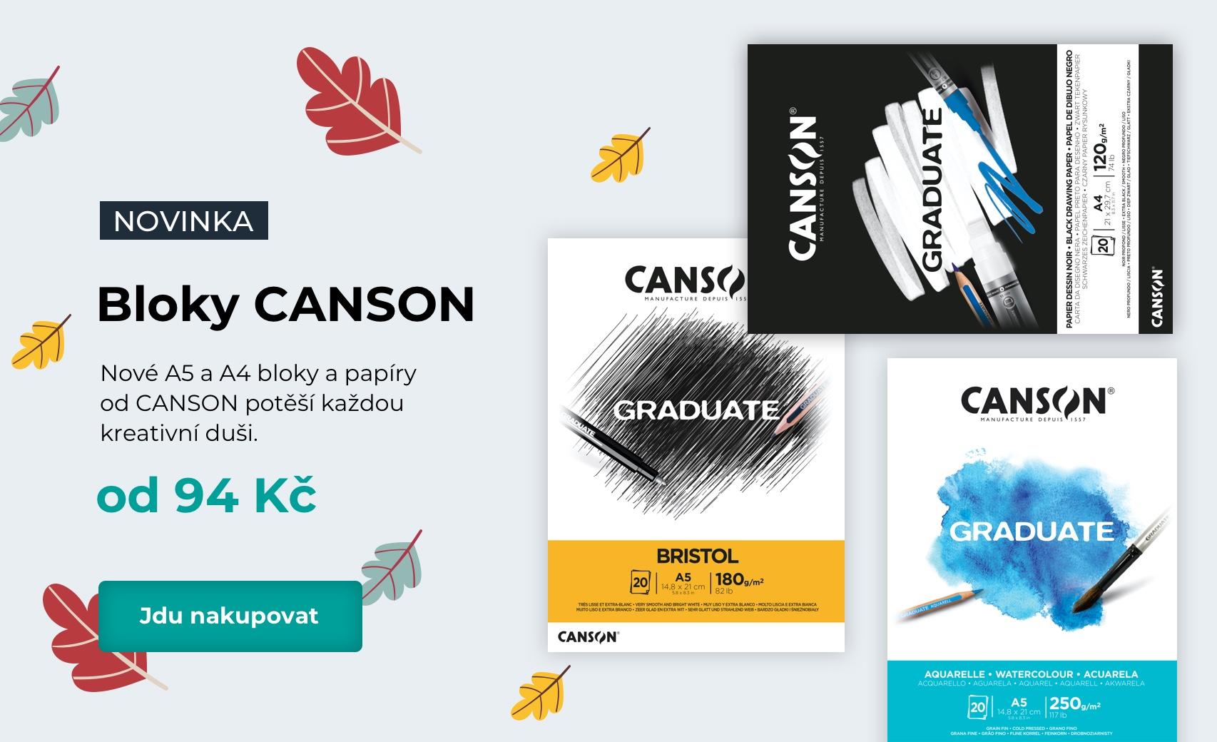 Nové A5 a A4 bloky a papíry  od CANSON potěší každou  kreativní duši.