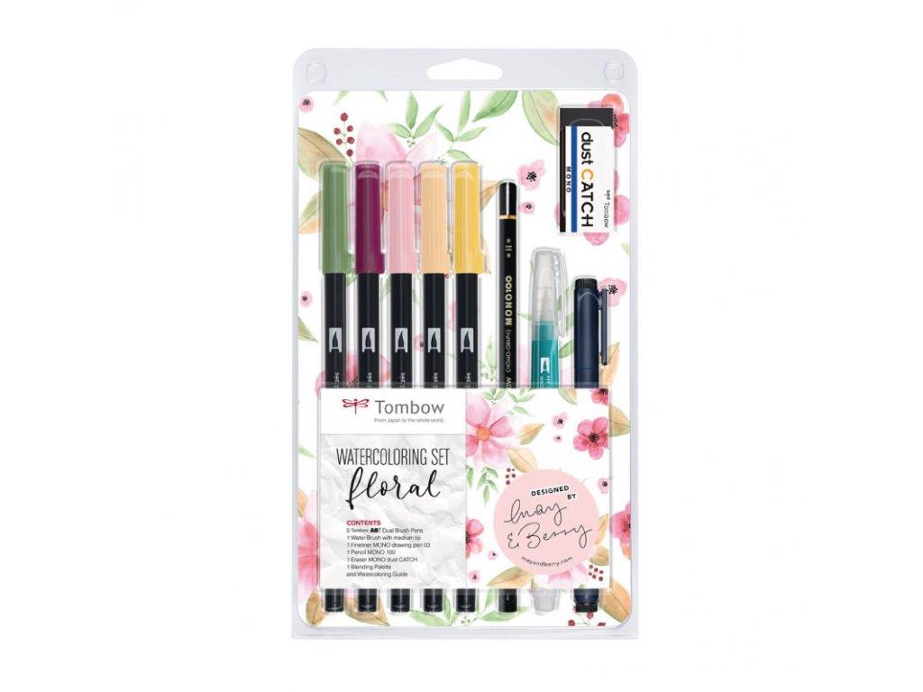 Tombow ABT Dual brush pen akvarelová sada Floral