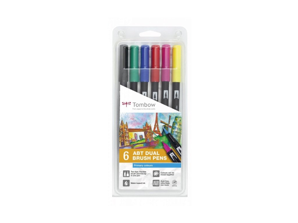Tombow ABT Dual Brush pen – sada Primary