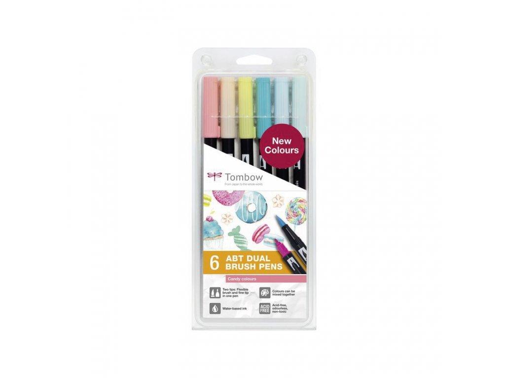 Tombow ABT Dual Brush pen - sada Candy
