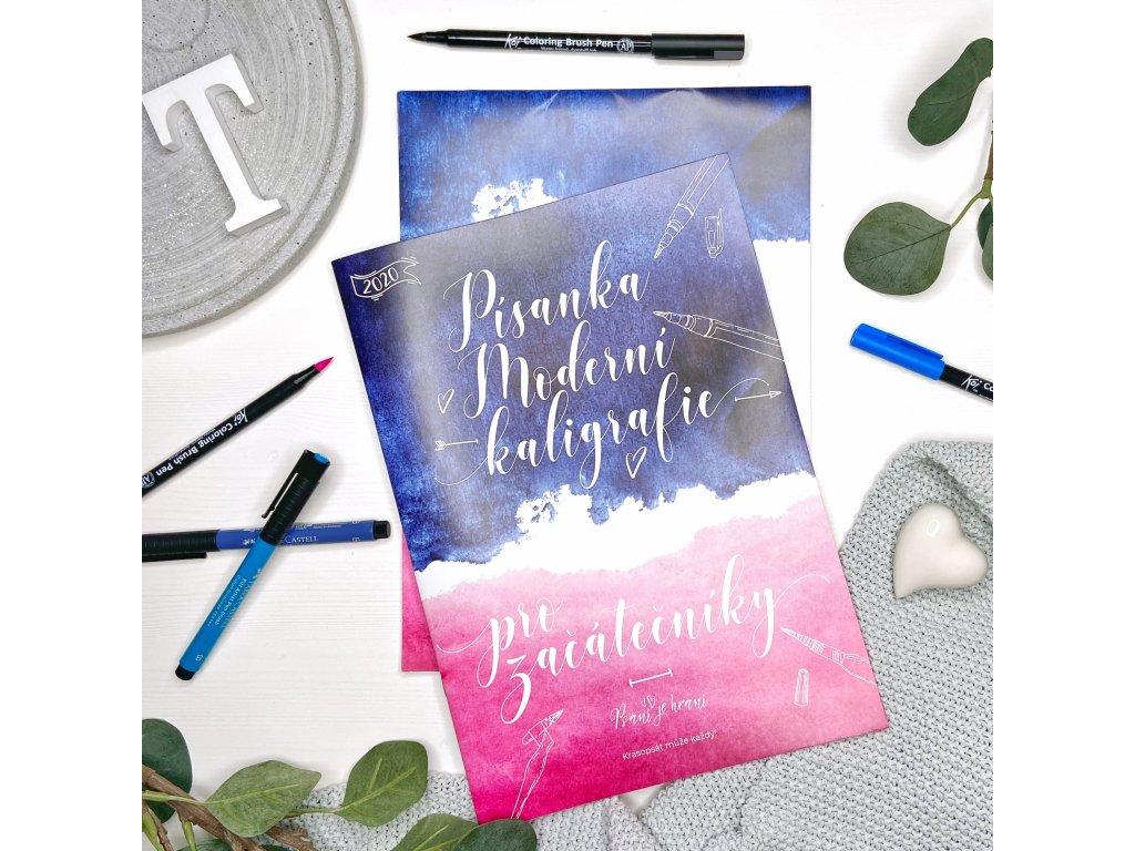 Písanka moderní kaligrafie pro začátečníky + Brush pen