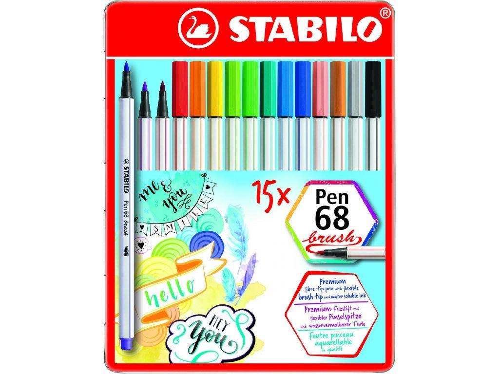 Stabilo brushp pen sada 15