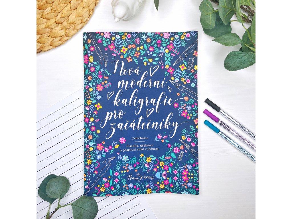 Nová písanka moderní kaligrafie pro začátečníky + Brush pen
