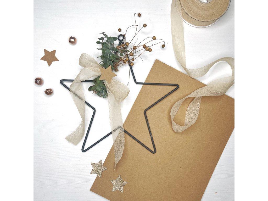 Vánoční hvězda – sada na výrobu vánoční dekorace