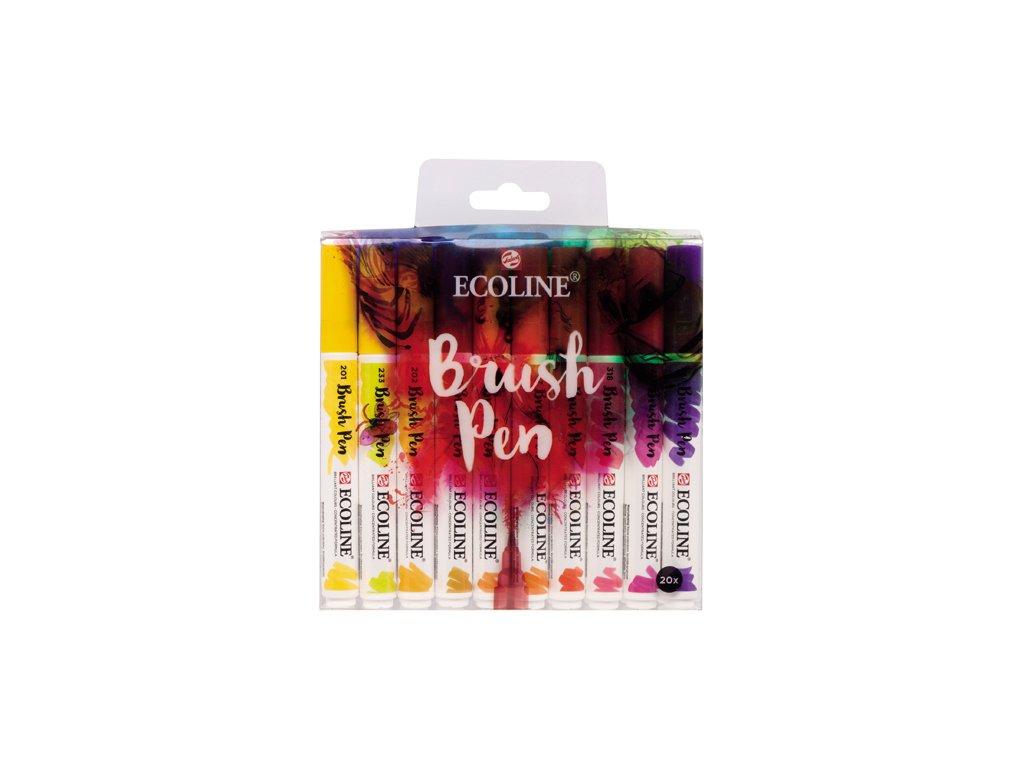 Ecoline brush pen – sada 20 ks