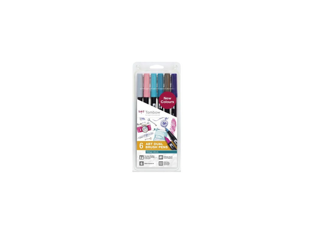 Tombow ABT Dual Brush pen - sada Vintage