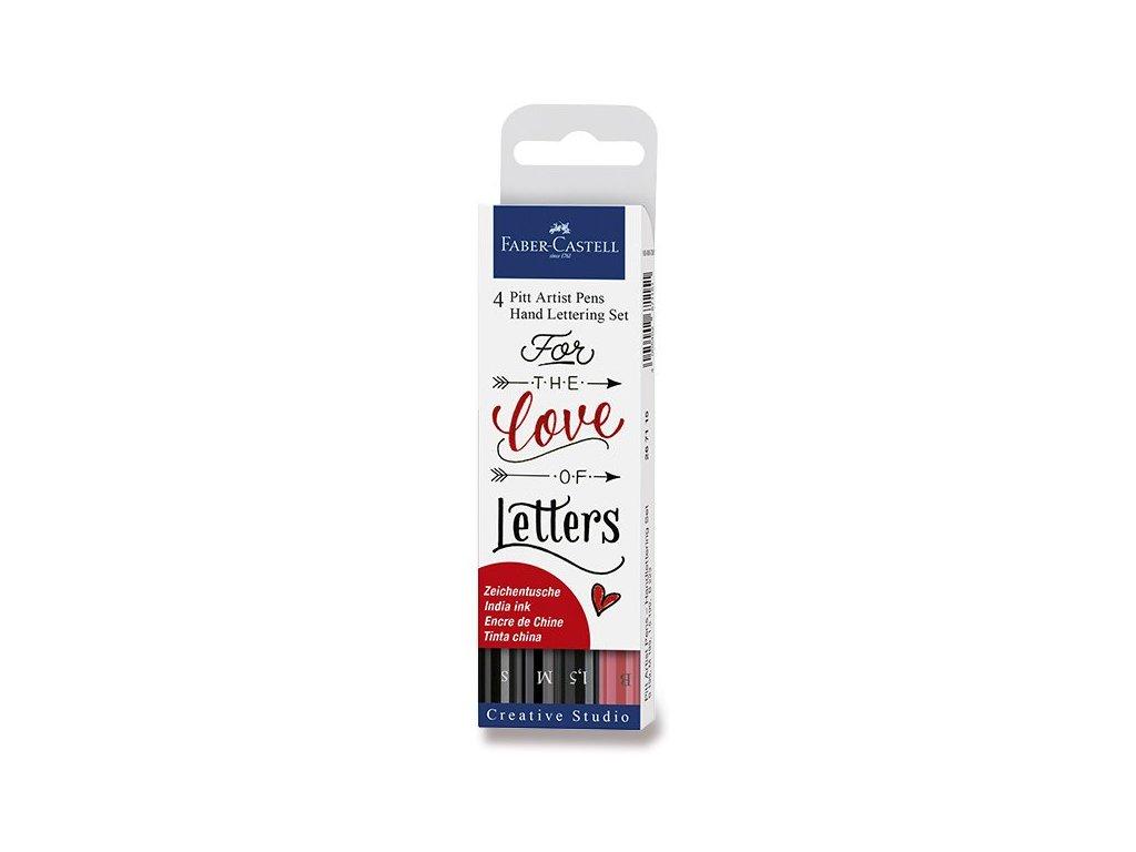 Pitt Artist Pen Hand Lettering set 4 ks – Love