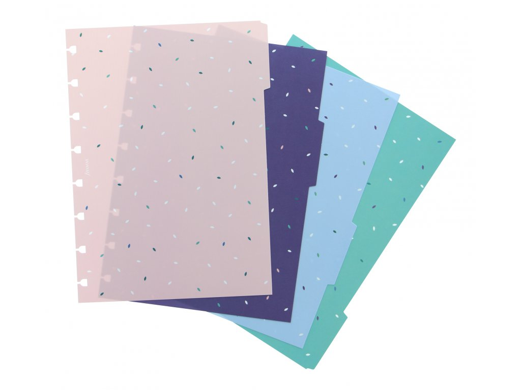 Filofax Garden Collection A5 Dividers sku 142125 set of 4 for A5 Notebooks Product image