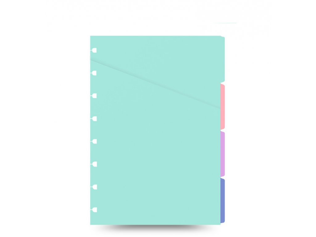 filofax notebook refill indices a5 pastel front 1