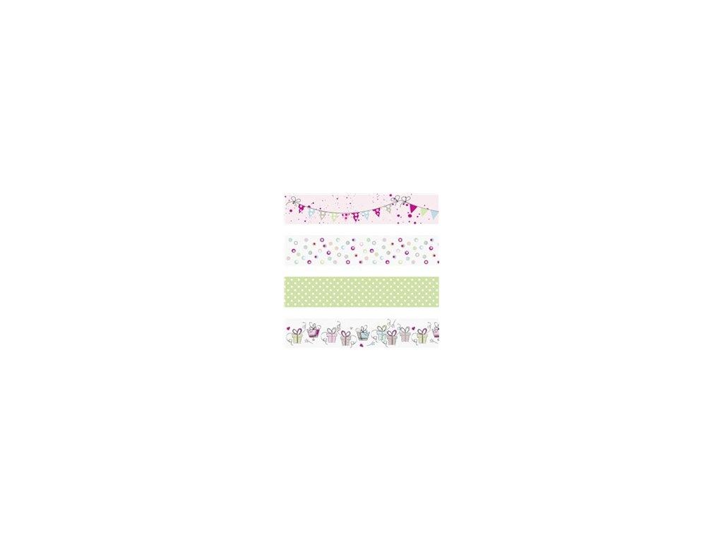Washi páska - narozeniny (4ks)