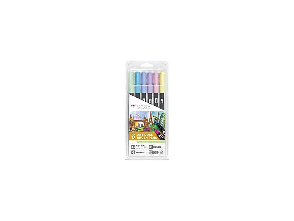 Tombow ABT Dual Brush pen - sada Pastels