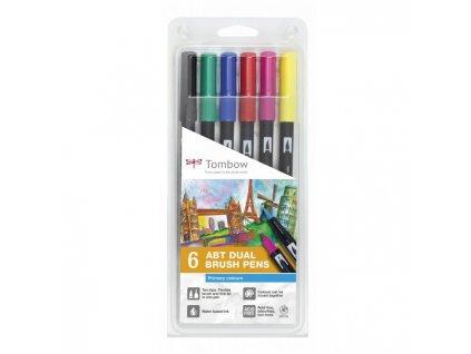 Tombow ABT Dual Brush pen – sada Primary