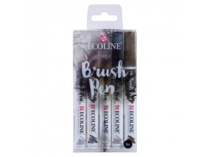 Ecoline brush pen – sada Grey
