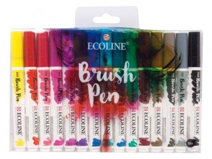 Ecoline brush pen – sada 15 ks