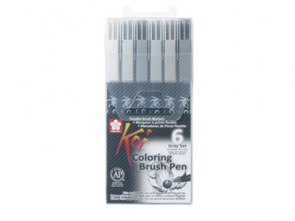 Koi Coloring Brush Pen – sada grey
