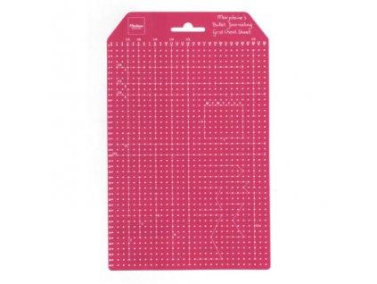 Plastová šablona mřížka NA BUJO 15x23,5mm
